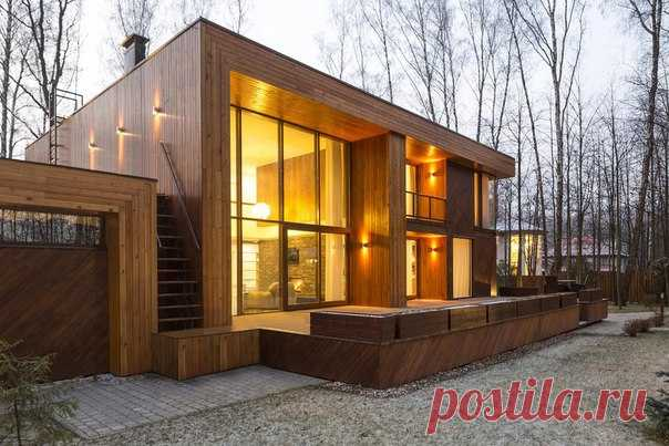 The modern private house in Moscow area