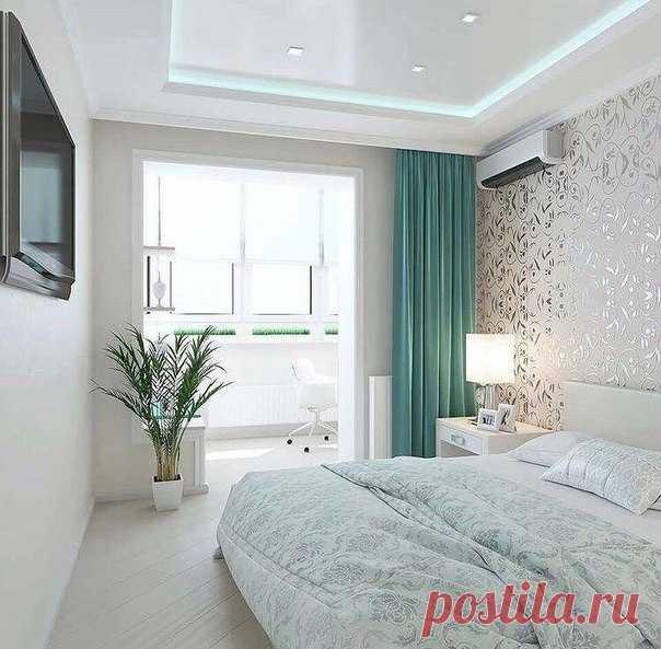 Интерьер светлой спальни (41 фото) | «Печёный» | 593x604