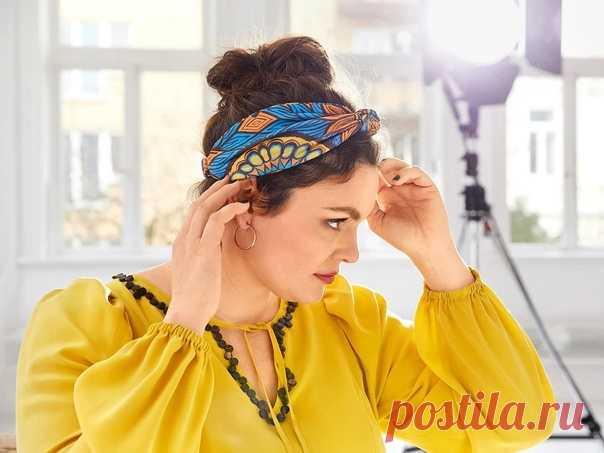 Яркая повязка на голову своими руками