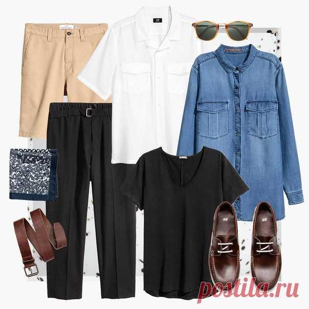 """Добавьте в свой образ несколько ретро-акцентов! Для этого идеально подойдут, например, рубашка в стиле 50-х и элегантные очки в """"черепаховой"""" оправе. #HMMan"""