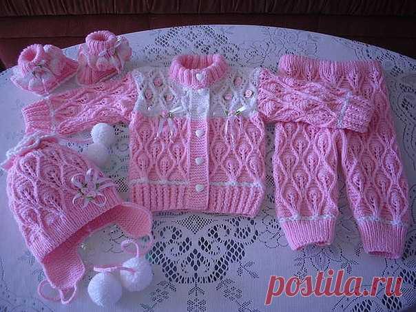 красивый костюм для детей вязаный спицами вязание спицами детям до
