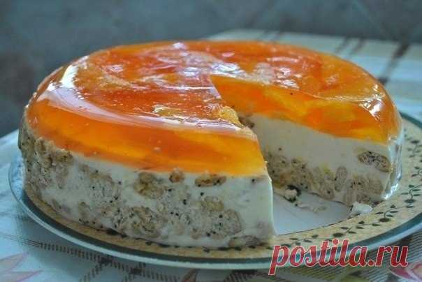 Orange cake without pastries — it is simple, tasty and beautiful!