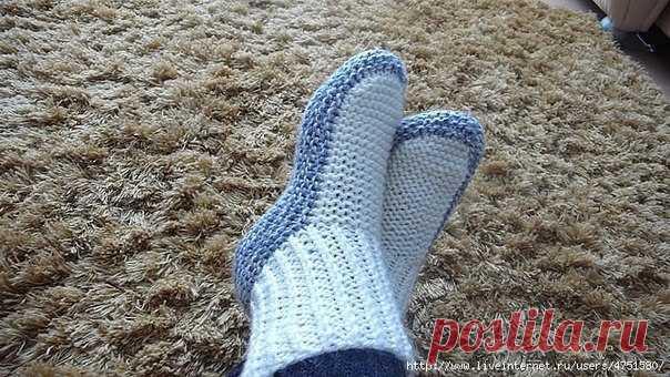 Вяжем теплые носочки из категории Интересные идеи – Вязаные идеи, идеи для вязания