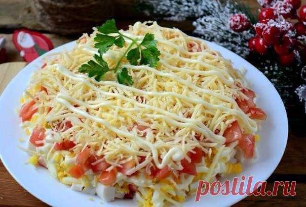 Лучший салат с крабовыми палочками — полный восторг!