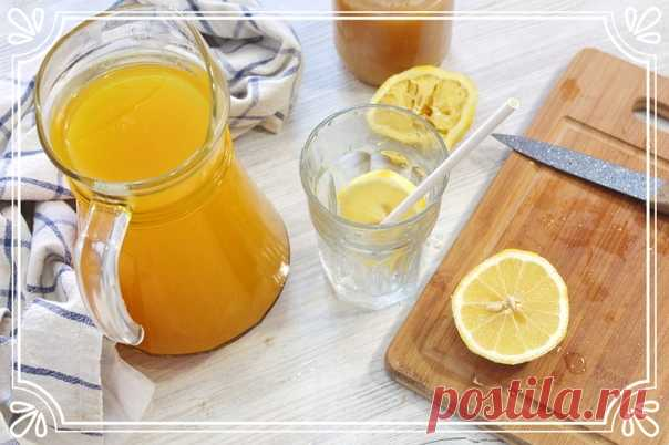 Имбирный напиток с лимоном, медом и куркумой   Предлагаем приготовить очень полезный имбирный напиток. Напиток кисло-сладкий, очень ароматный, мы бы даже сказали ядреный).   К тому же он полезен для Вашего иммунитета, он ускоряет обмен веществ, повышает аппетит, улучшает пищеварение и способствует похудению.   Ингредиенты:  Имбирь – 50 г.  Лимон – 1 шт.  Куркума – 1 ч.л.  Мед – 2-4 ст.л.  Вода – 2 л.   Способ приготовления:  1). Имбирь очистим от кожуры и порежем на неболь...