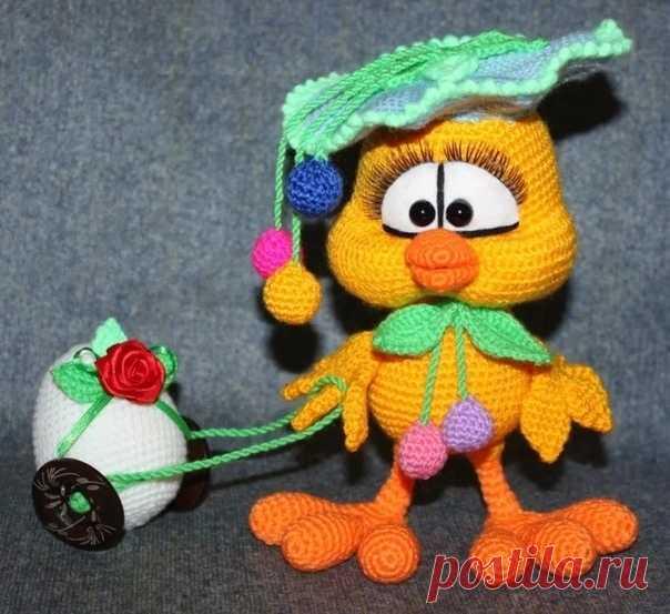 Πacхaльный цыплeнoк Ягoдкa c яичкoм Автop -Εлeнa Бeлoвa,  #цыпленок_крючком@knit_toyss, #крючком_игрушка@knit_toyss  описание  Источник: http://www.myjulia.ru/post/760468/