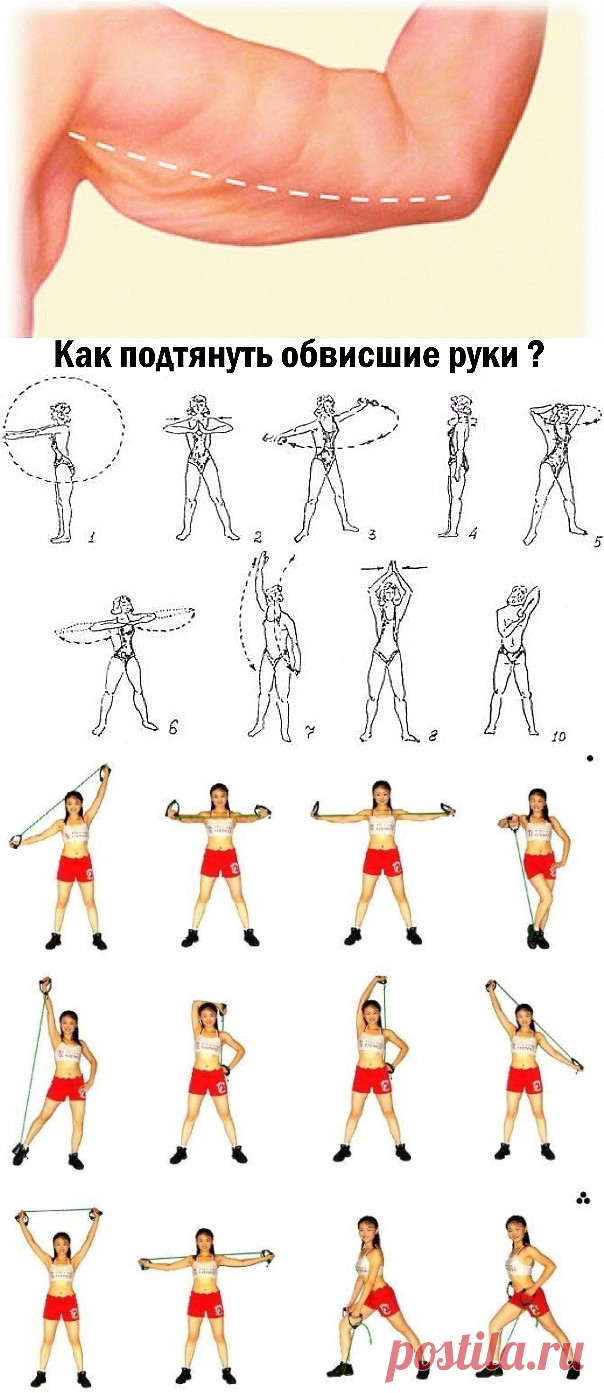 Упражнения для подтяжки кожи живота в картинках