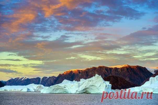 Льды Гренландии на снимке Ольги Ларцевой: nat-geo.ru/community/user/164950/