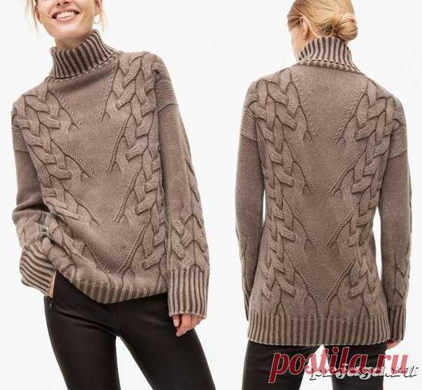 узор косы елочкой свитер Susan как вязать Httpprjagaruuzory