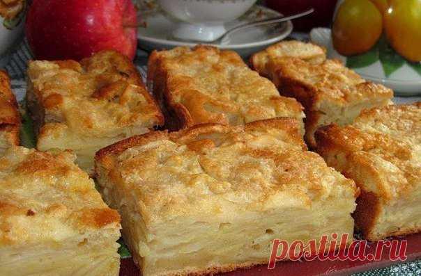 Необычайно вкусный пирог. Угощайтесь! Яблочный пирог-суфле