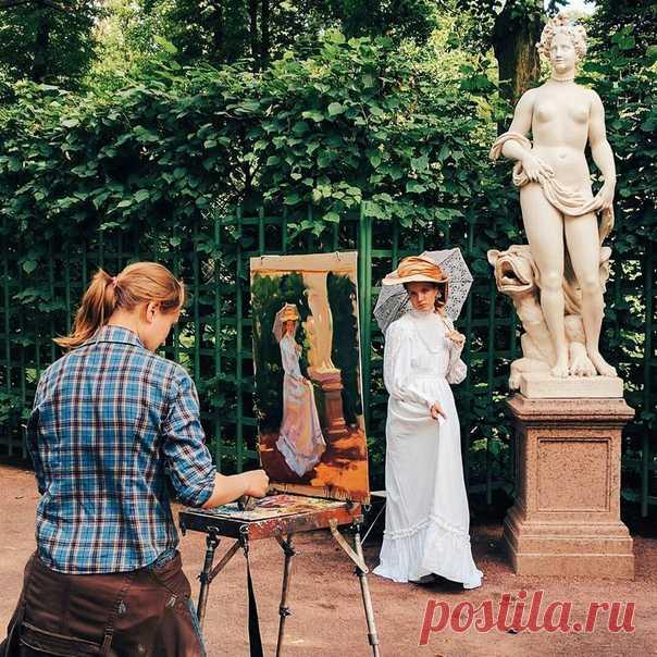 художник и модель фото