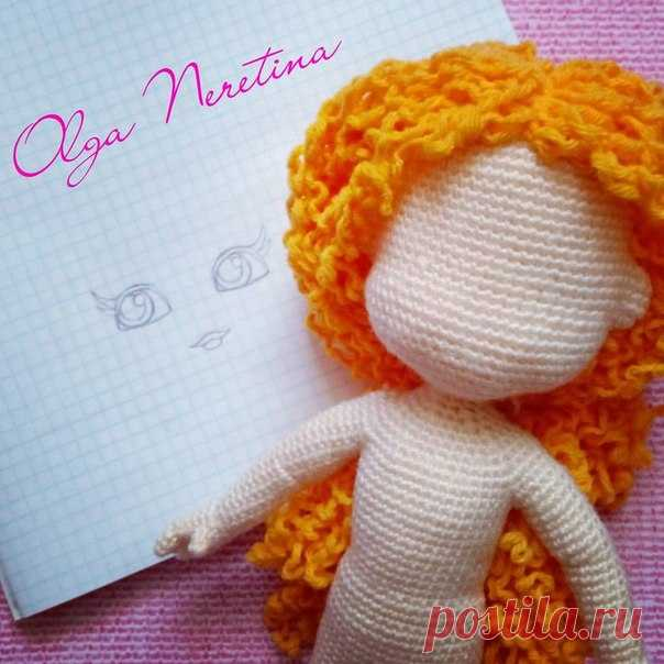 Шаблон нарисован, приступаю к оформлению личика  #вязаниекрючком #вязанаякукла #куклакрючком #кукла #скоромастеркласс #crochetpattern #crochet #crochetdoll