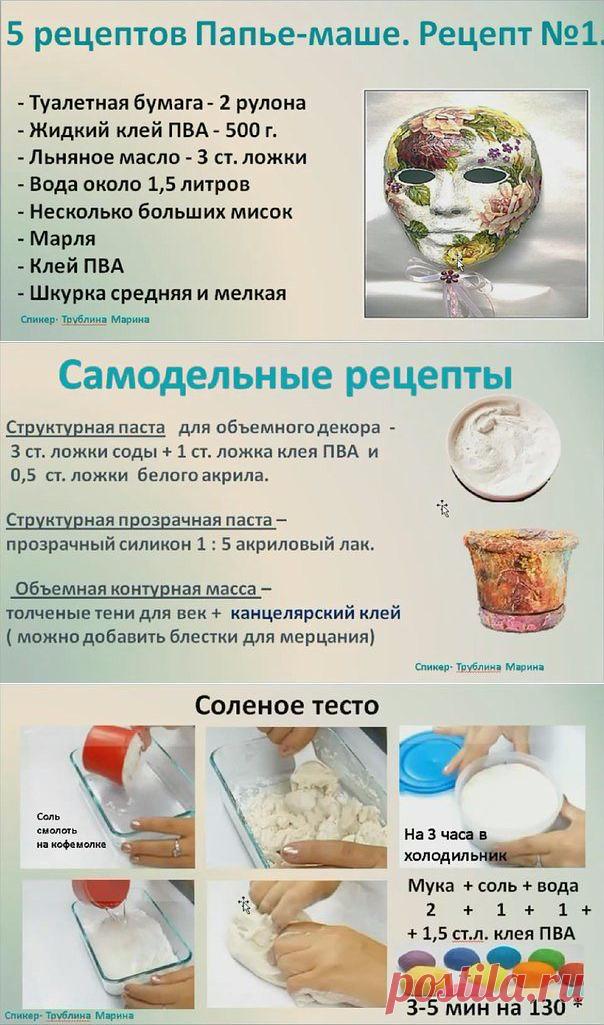 Лучшее для творческих идей: рецепты для декорирования и лепки