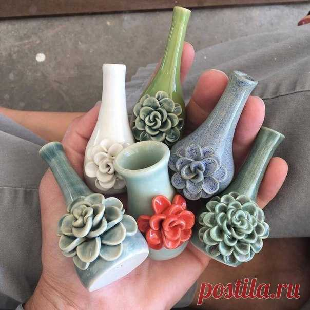 Миленькие вазочки 🤗
