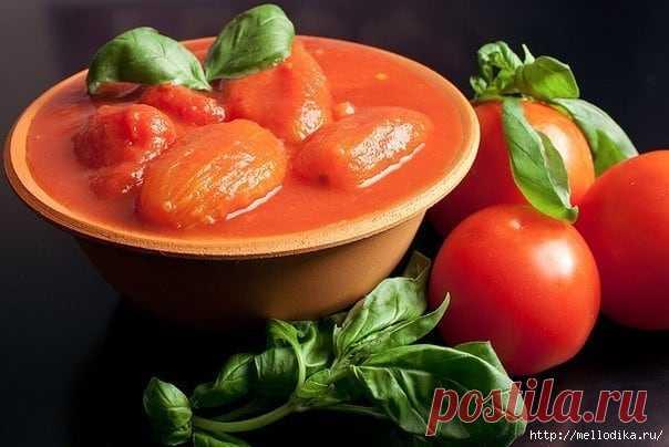 Замечательный рецепт помидор в собственном соку.
