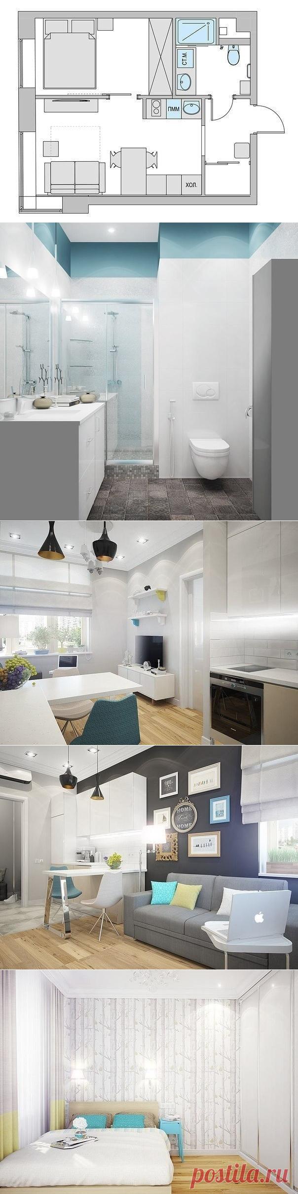 Дизайн - проект маленькой двухкомнатной квартиры, 33кв м. - Дизайн интерьеров | Идеи вашего дома | Lodgers
