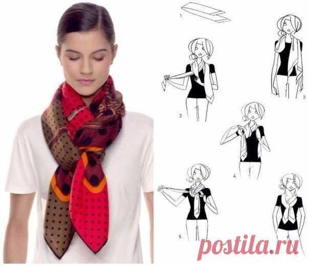 Как стильно завязать платок