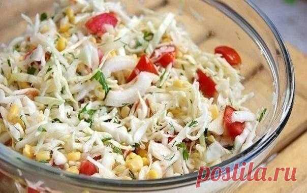 Капустный салат «Летний» — выручит всегда!