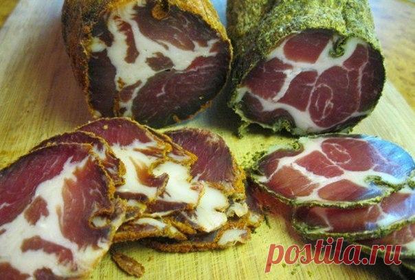 Мужской деликатес: Вяленая свиная шея. Это превосходно