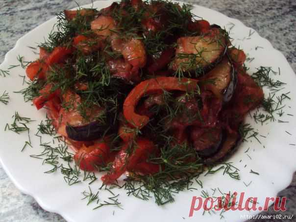 Сливово - баклажановый салат..