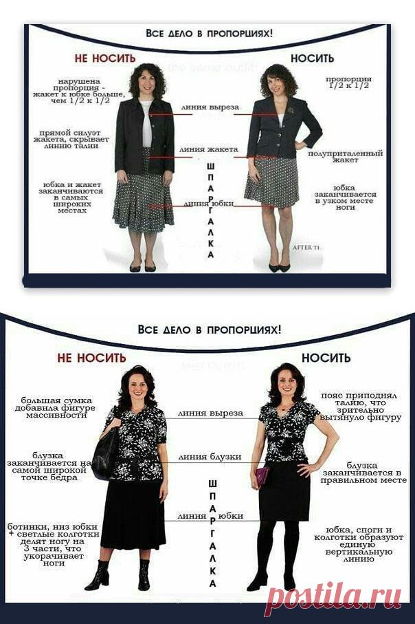 Как красиво носить вещи, соблюдая пропорции