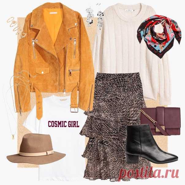 Модная замшевая куртка, многослойная юбка макси, лаконичный трикотажный джемпер и актуальные аксессуары - благодаря нашим новым моделям, создайте великолепный образ в стиле бохо-шик! #HM