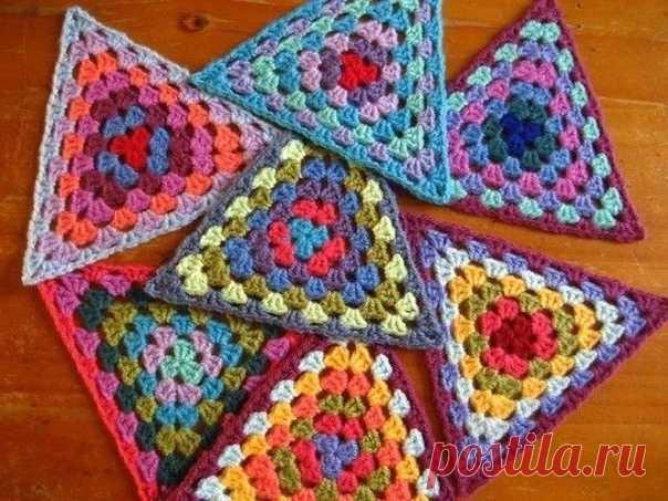 Цветные треугольники  ...