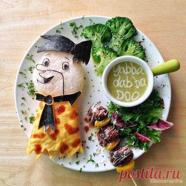 Завтраки, которые жалко есть от Саманта Ли / Вязание как искусство!