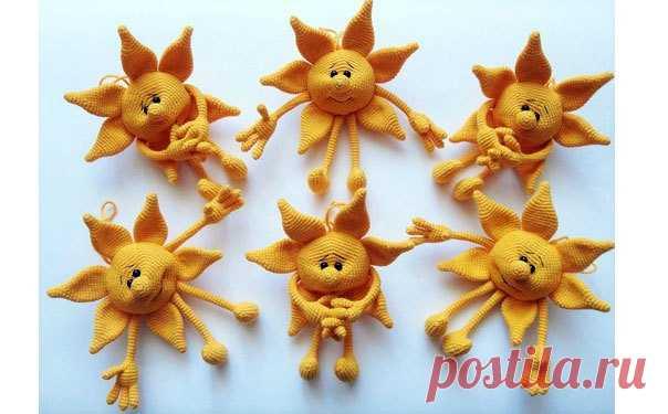 вязаное солнце крючком схема вязаное солнце это и игрушка и