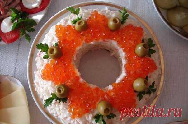 """Это блюдо станет гордостью праздничного стола - салат """"царский"""" Это очень вкусно!"""