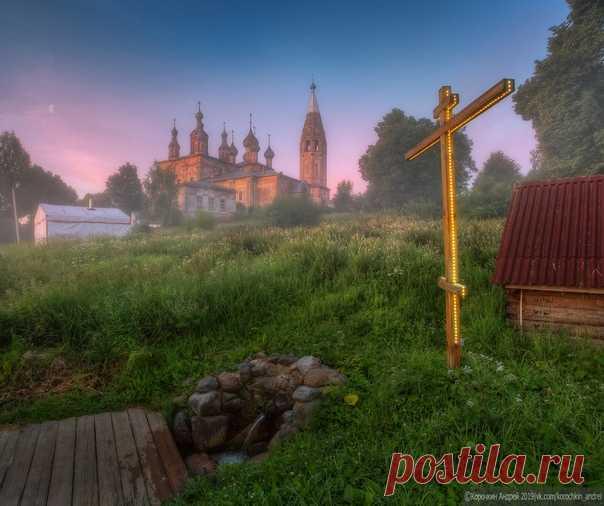 Ранее утро в селе Парское, Ивановская область. Автор фото – Андрей Корочкин.