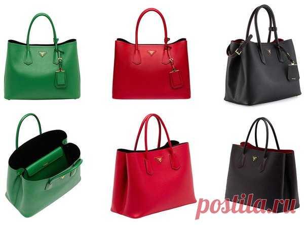 Saffiano Double Bag – это новая модель известного бренда Prada. Данная  сумочка выполнена из натуральной 6ac474d7d53
