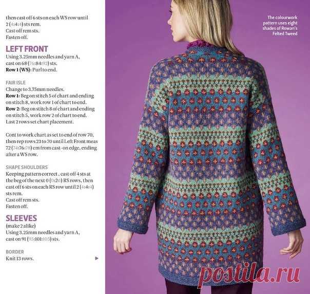 Жаккардовый кардиган спицами #knitting #вязание_спицами #кардиганы_спицами #интарсия #жаккард