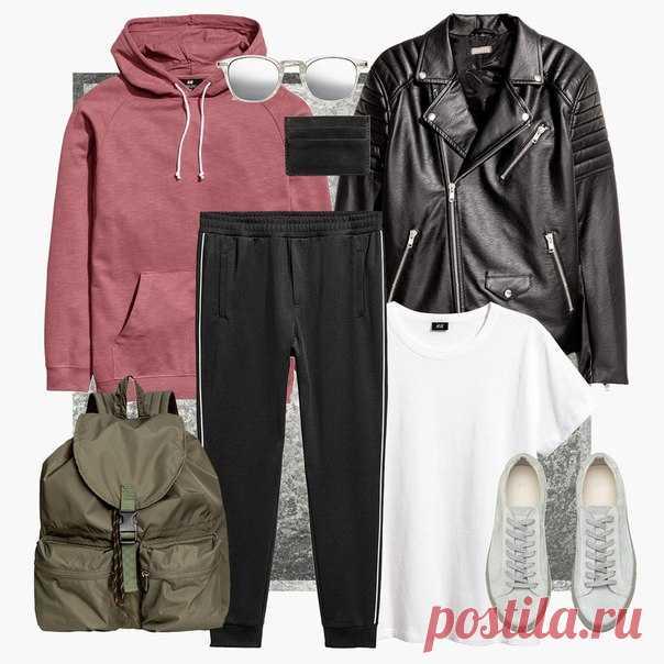 Думаете, как создать стильный мужской образ для нового сезона? Не забывайте про кожаные куртки и модные солнцезащитные очки. #HMMan