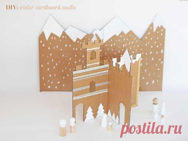 Зимний замок из картона — Поделки с детьми