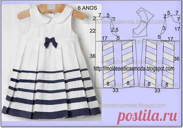 Выкройка детского платья 122 фото 224
