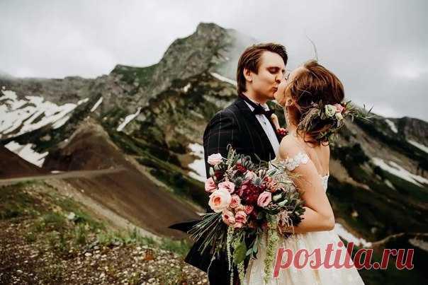 Свадьба в горах ✨ Кадр, от которого захватывает дух ❤