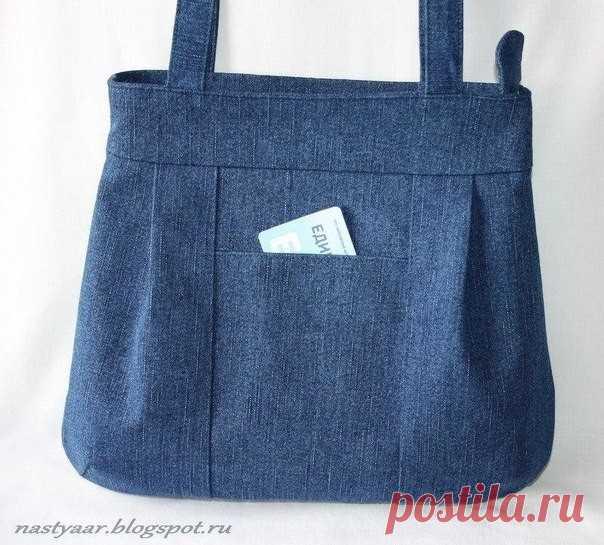 Шьем джинсовую сумку. Выкройка прилагается