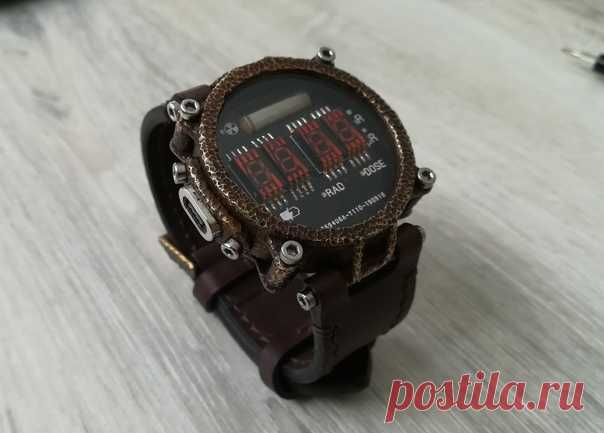 Самодельные часы. Автор Dirigible на pikabu #часы #время #diy #идея #мастер #мастерская #металл #сделайсам #самоделка
