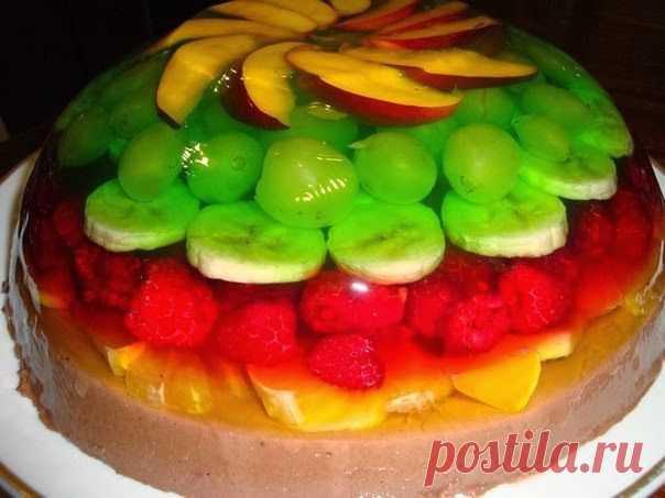 истинное значение торт сова с желе и фруктами фото пытались