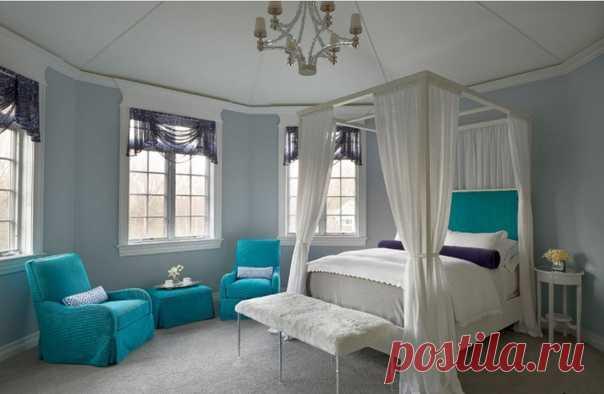 Прекрасная спальня, где много света!