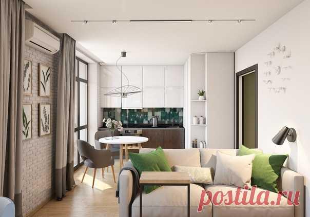 Однокомнатная квартира, 36 м2 Дизайн: Виктория Иванова Смотреть полностью: