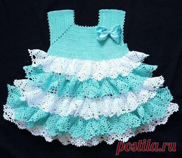 Очень красивое платье. Подборка схем