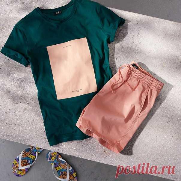 Лето в самом разгаре! Спешите приобрести актуальные новинки для этого замечательного времени года: самые стильные футболки и шорты уже ждут вас в наших магазинах и онлайн! #HMMan