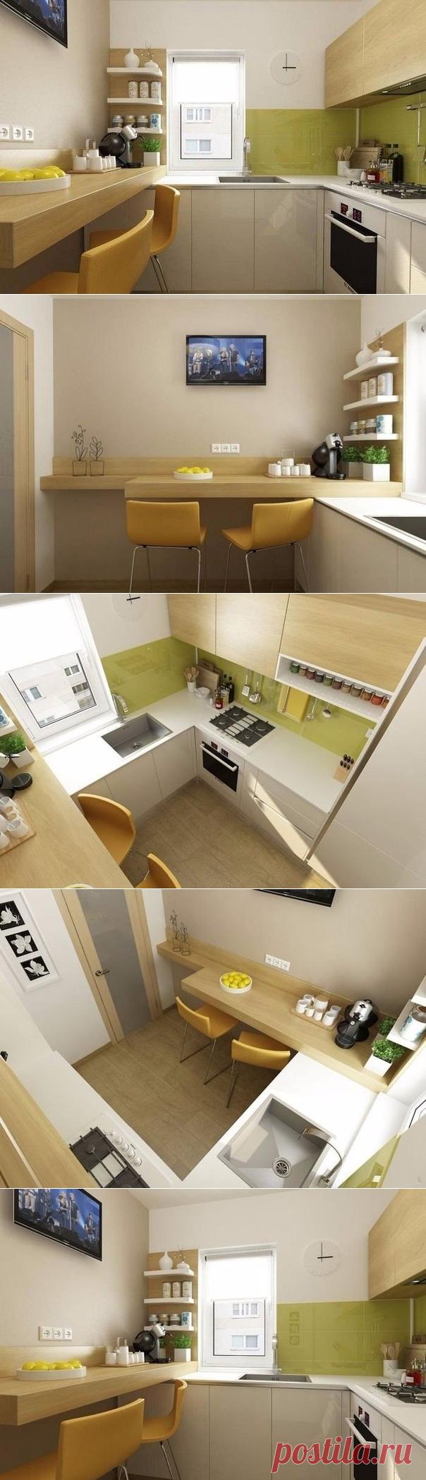 Как оформить маленькую кухню: 6 квадратных метров в Бухаресте - Дизайн интерьеров | Идеи вашего дома | Lodgers
