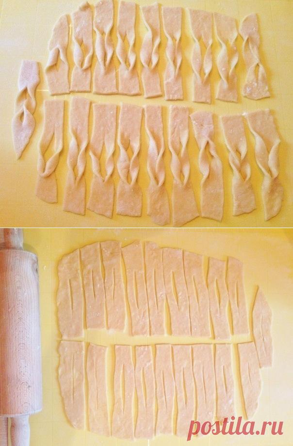 Как приготовить очень простой рецепт домашнего хвороста. - рецепт, ингредиенты и фотографии