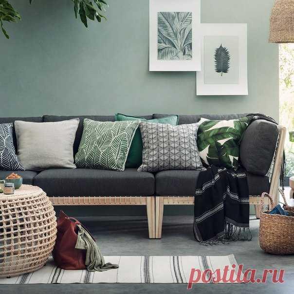 Создайте в доме уютное, весеннее настроение, добавив в интерьер актуальные аксессуары и эффектные элементы декора с природными мотивами. #HMHome