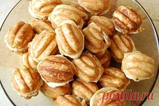 Как приготовить те самые орешки со сгущенкой  - рецепт, ингредиенты и фотографии
