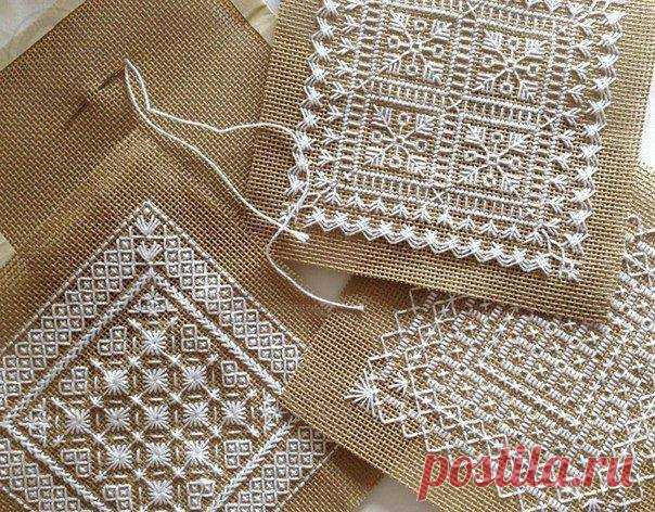 Красивая вышивка для нарядных салфеток — Сделай сам, идеи для творчества - DIY Ideas