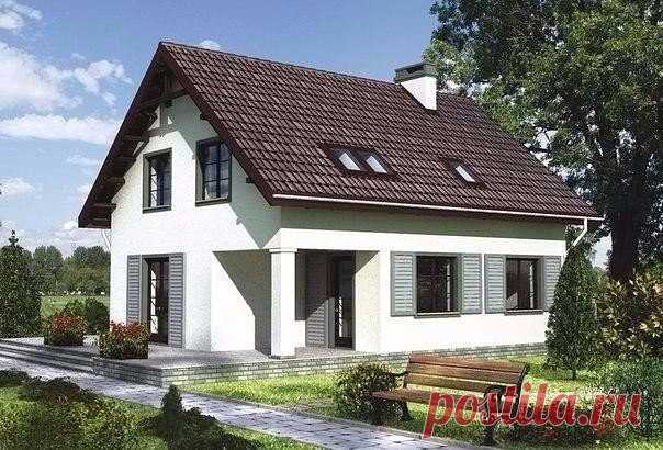 Одноэтажный дом, с мансардным этажом